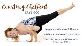 Courtney Chalfant Athelete Ambasador Chef Yahweh Yoga